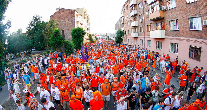 Crowd of Dutch people