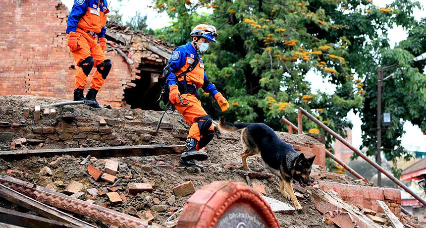 earthquake damage in Kathmandu
