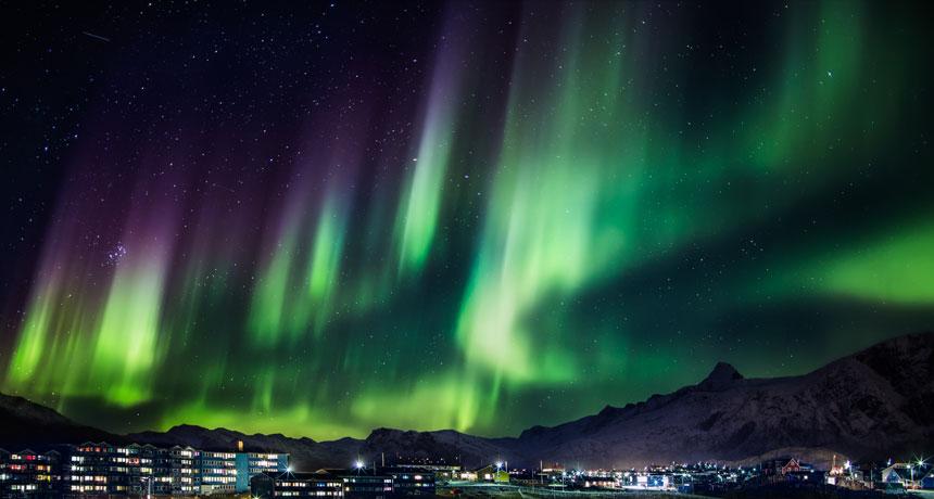 An aurora in Greenland