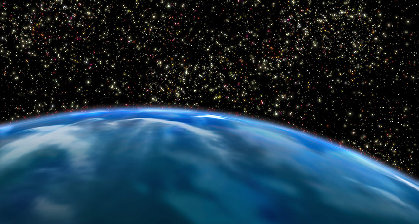 neighborhood of stars packed tightly together (illustrated)