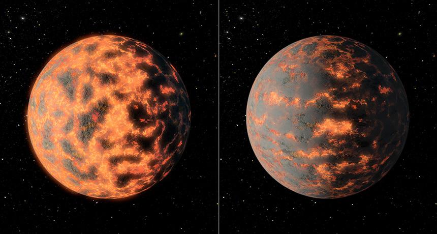 Illustration of exoplanet 55 Cancri e