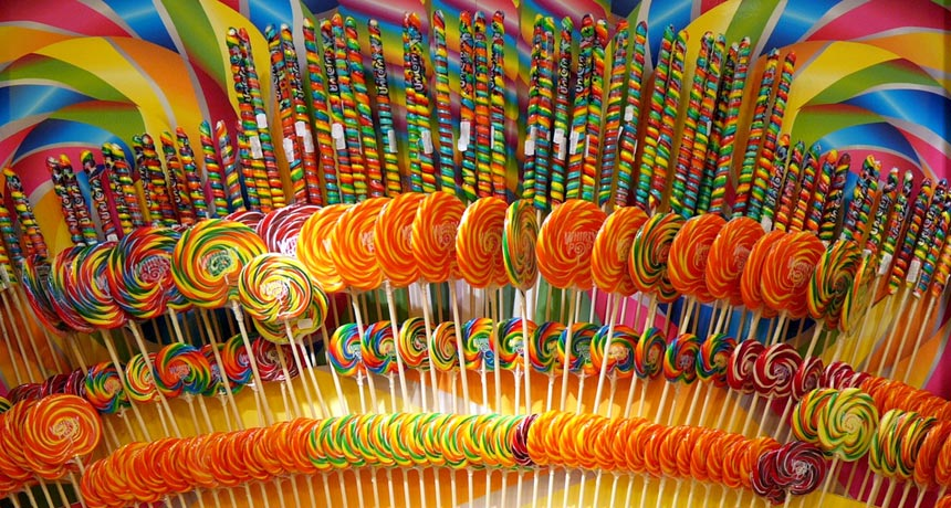 display of lollipops