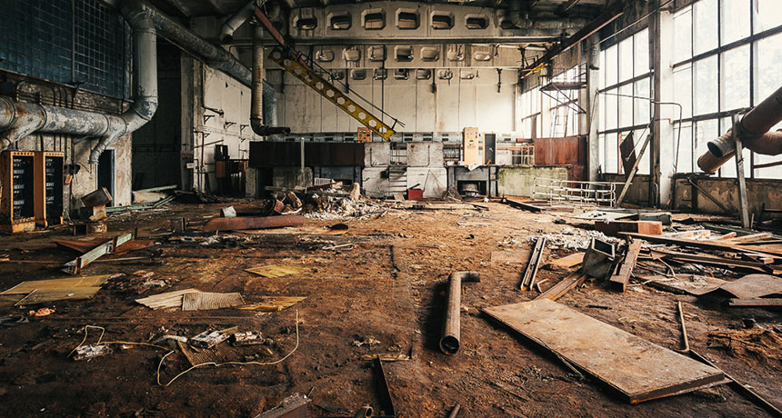 abandoned factory in Chernobyl