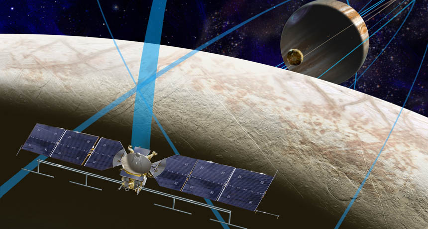 illustration of future mission to Europa