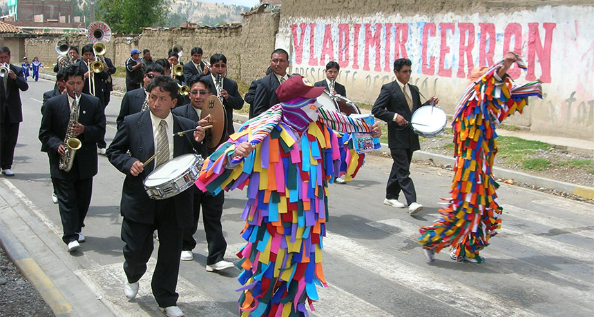 religious fiesta in Peru