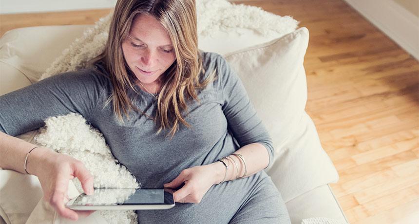 women researching eating placenta