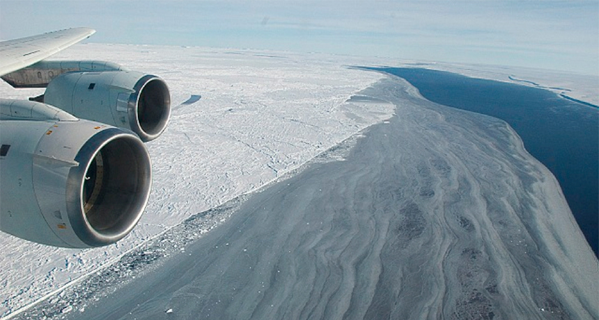 crack in Larsen C ice shelf