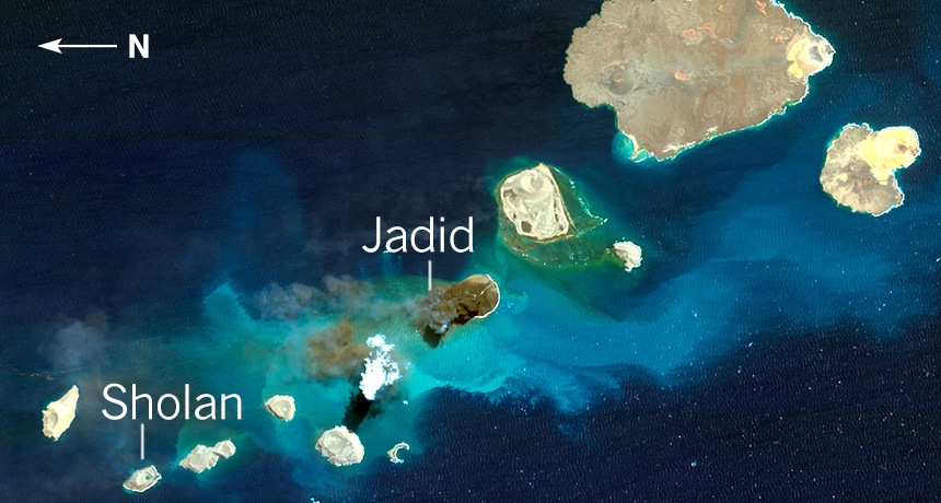 new volcanic islands