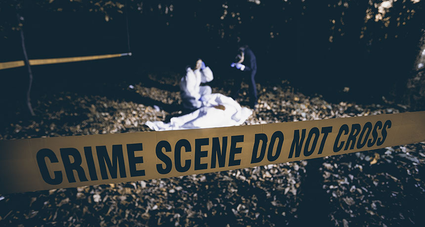 photo illustration of a crime scene