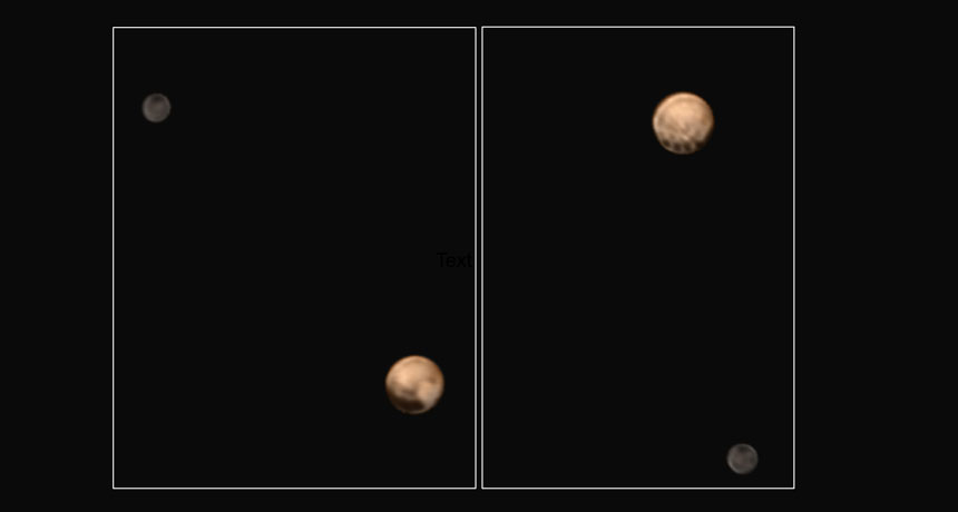 Pluto and Charon in orbit