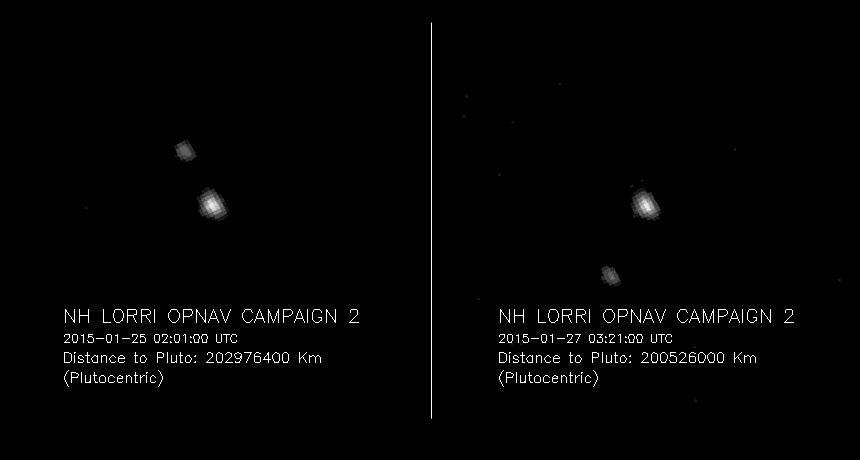 pluto images taken by New Horizons