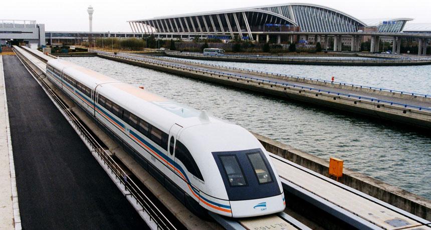 maglev train in Shanghai