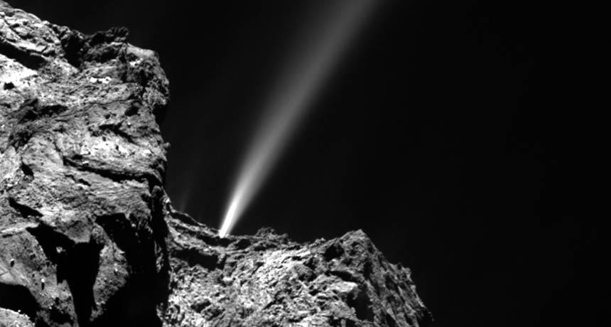 comet 67P jet
