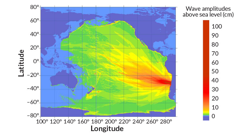 tsunami projection graphic