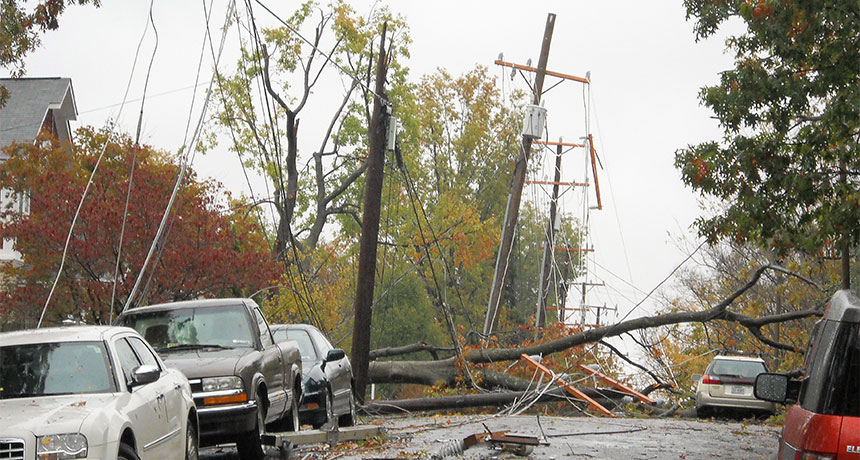 Street after a hurricane