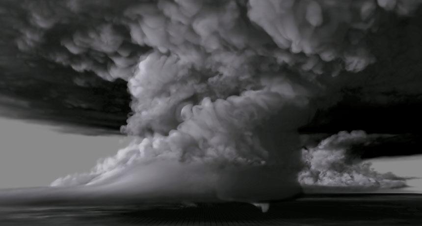 computer simulated tornado