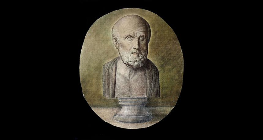 Hippocrates engraving