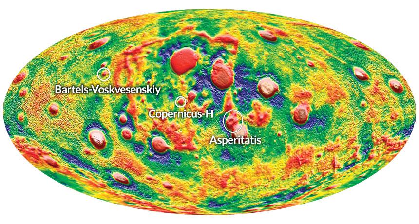 GRAIL moon map