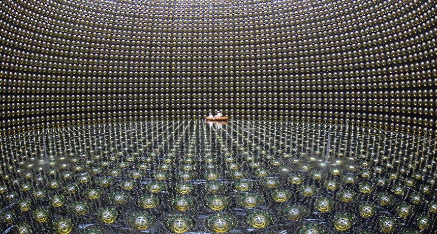 interior of Super-Kamiokande detector