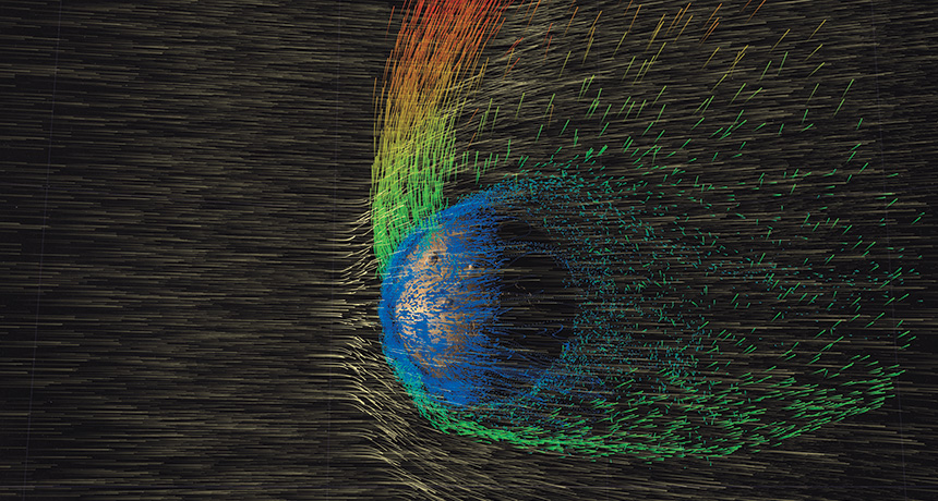 solar wind simulation