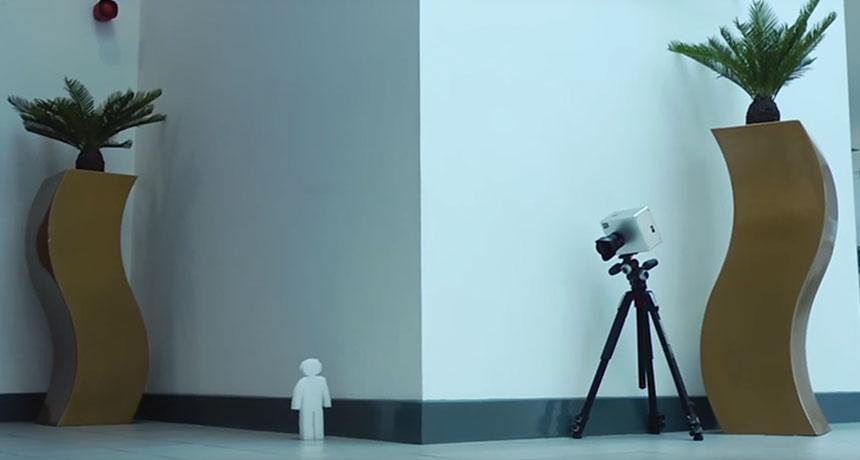 corner camera setup