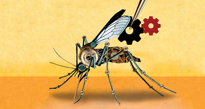 illustration of mechanical mosquito