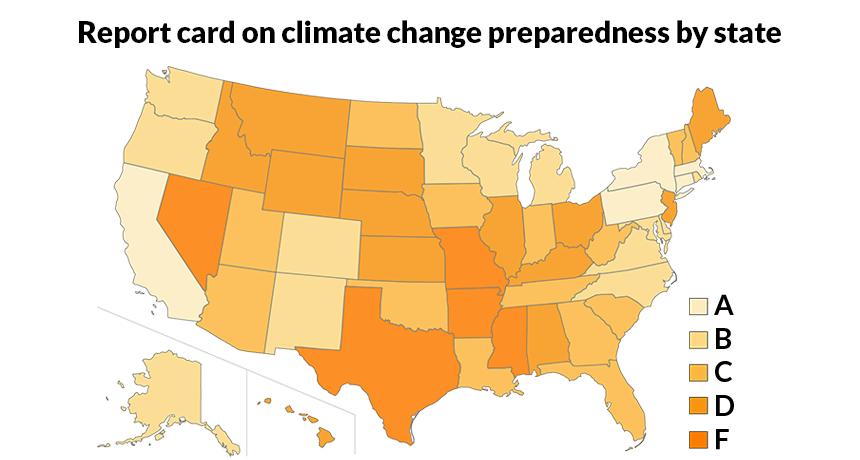 climate change preparedness map