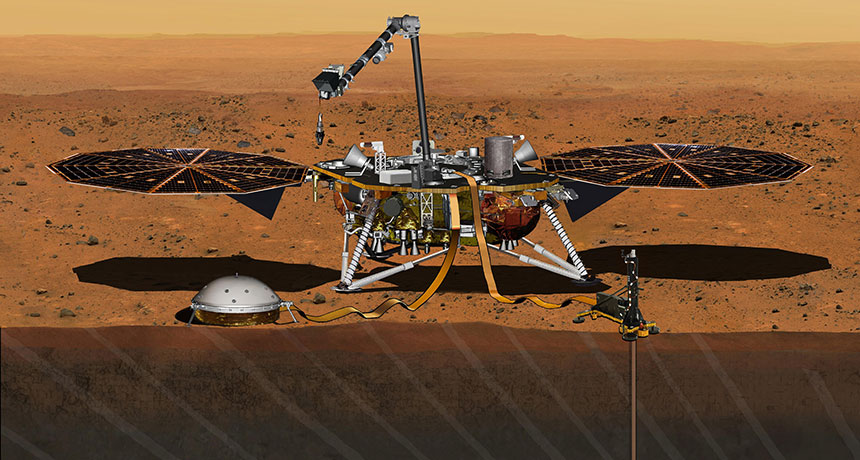 illustration of Mars InSight lander