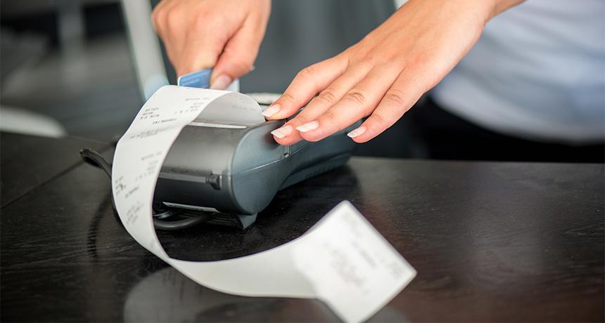 receipt handling