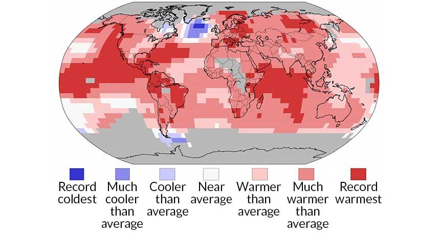 El Niño warming map