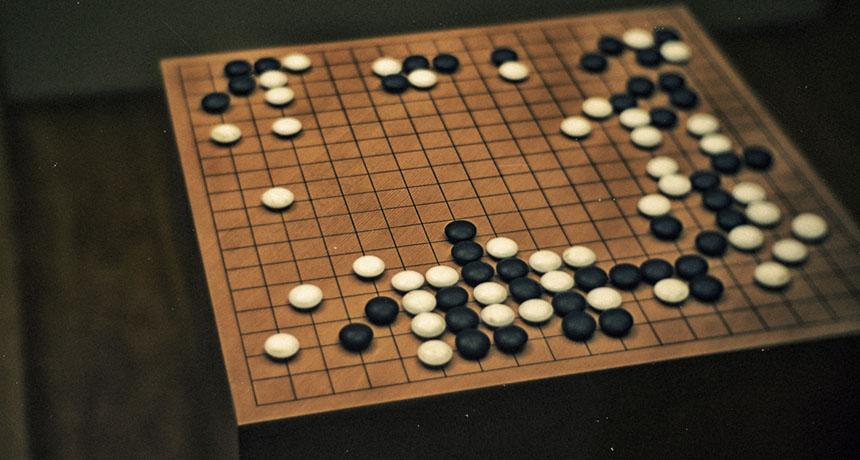 a Go board