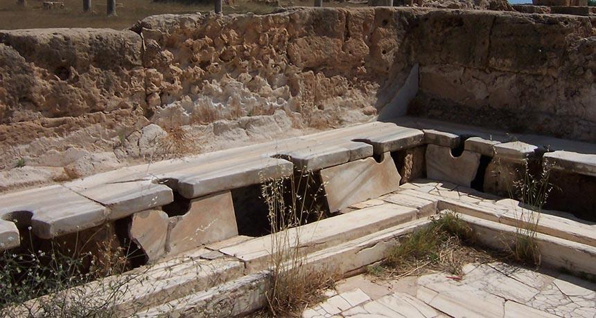 Roman Toilets in Libya