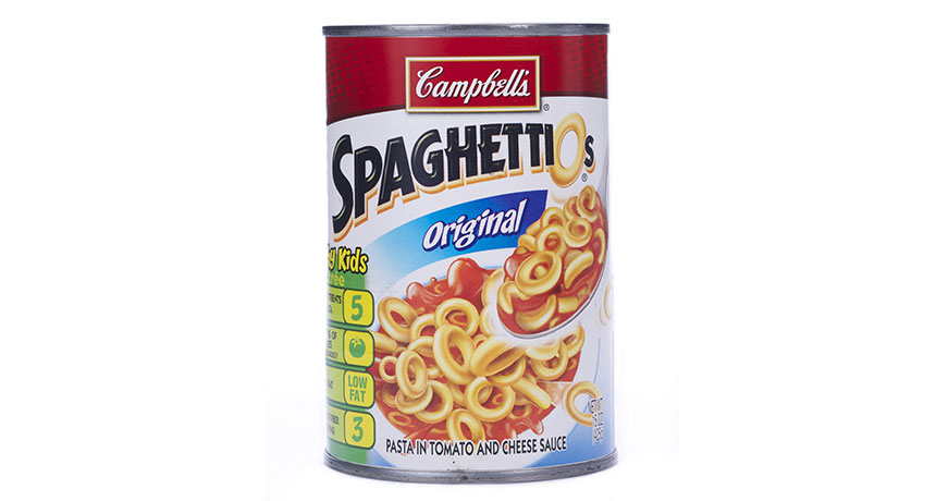 can of SpaghettiOs