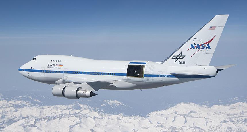 SOFIA test flight