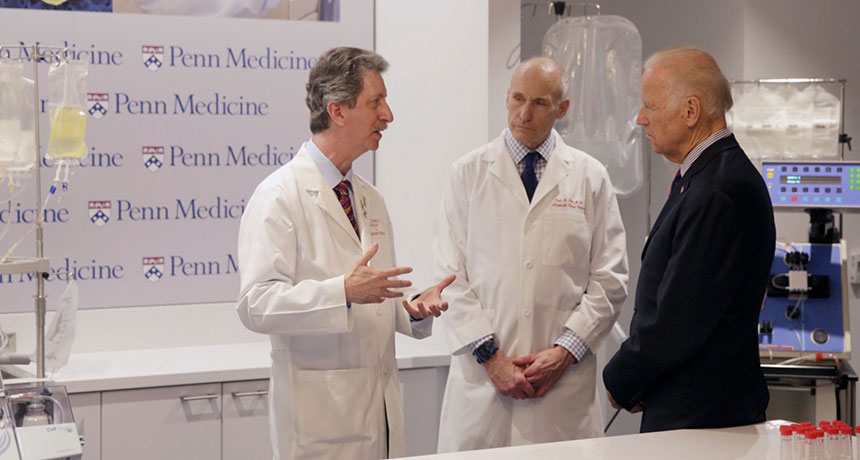 Biden with doctors