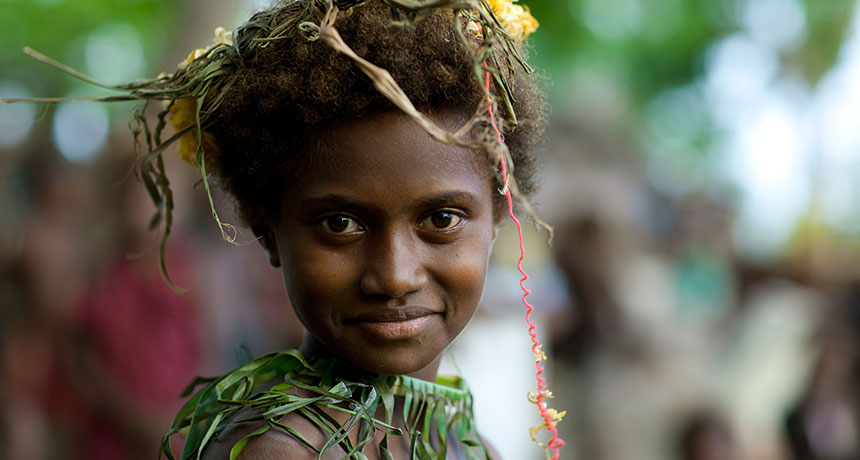 a Melanesian girl