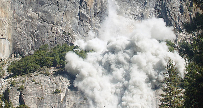 Rockfall in Yosemite