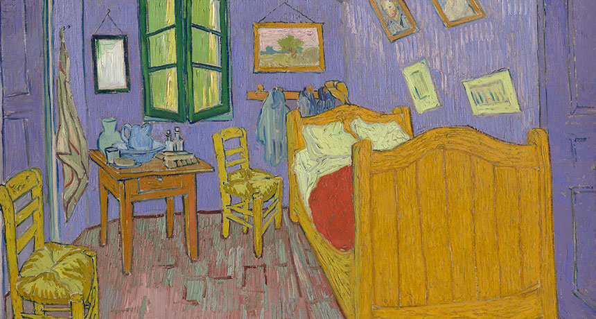 Recolorization of van Gogh's 'The Bedroom'