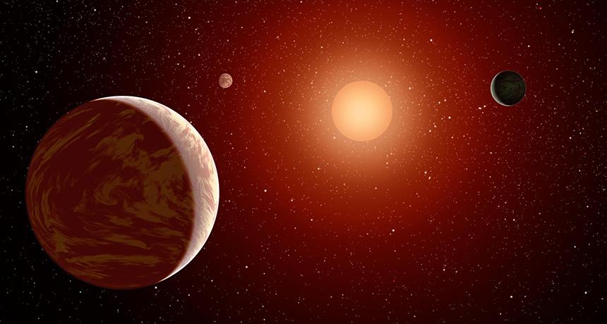 Dim red star illustration