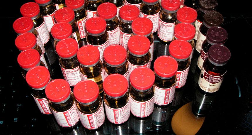bottles of ketamine