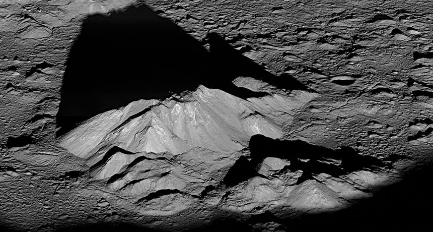 mountains near Tycho Crater