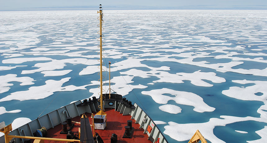 research vessel in the Arctic Ocean