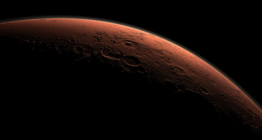 Simulated image of Mars