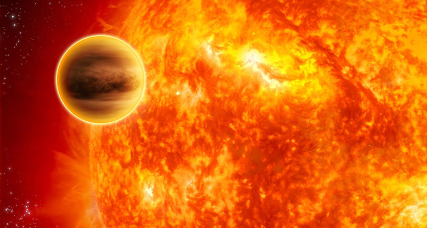 Illustration of exoplanet CI Tau b