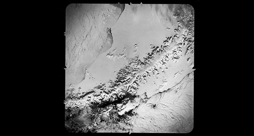 Photograph of the Larsen B ice shelf