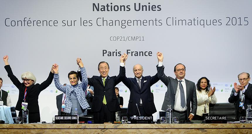 global leaders at Paris Agreement