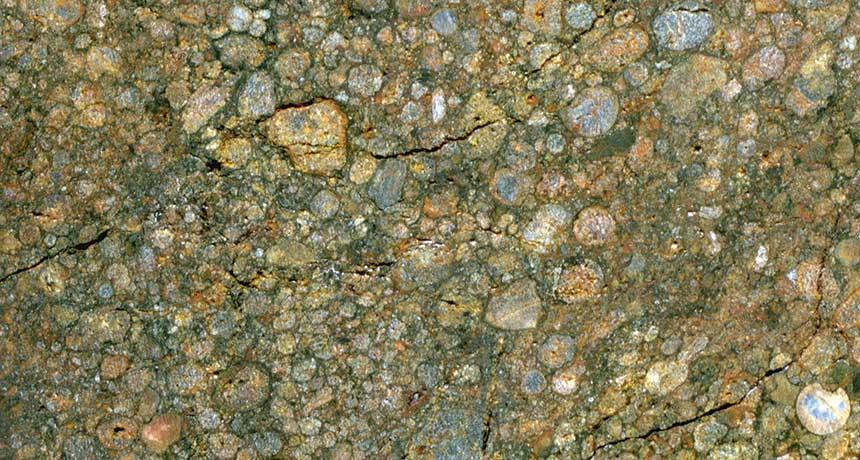 chondrules in a meteorite