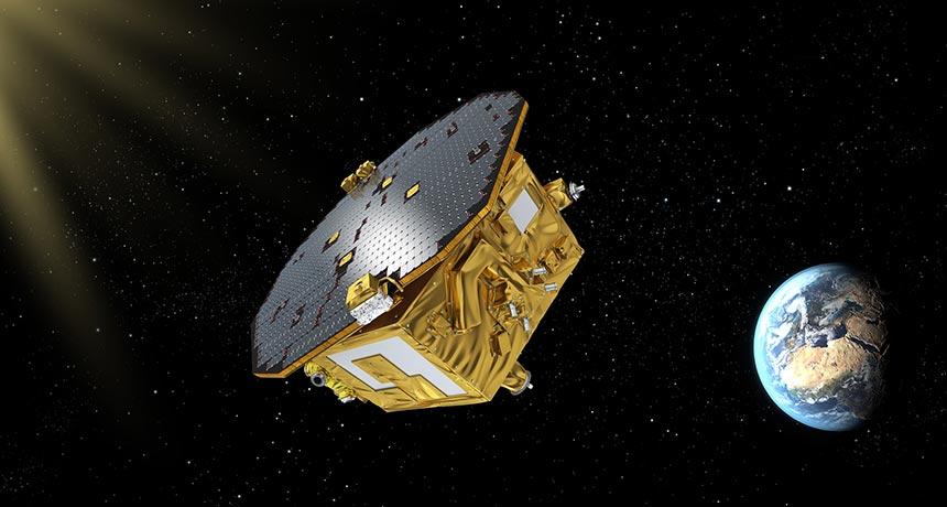 illustration of LISA Pathfinder