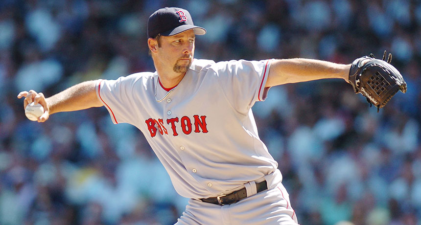 Boston Red Sox pitcher Tim Wakefield