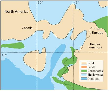 map of land bridge